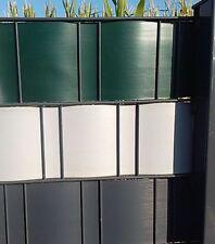 PVC SichtschutzSTREIFEN für Doppelstabmatten- Stabmatten- Gitterzaun vers.Farben