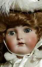 "Antique 36"" Simon Halbig sleep eyes German doll,no cracks/chips.Open mouth,teeth"