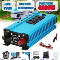 2000W/4000W Car Van Converter Power Inverter DC 12V to AC 220V Sine Wave 4 USB