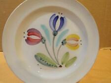 """Arabia Finland """"ARA 175"""" Kurt Ekholm Flowered 9 1/2"""" Plate Hand Paint Vintage -C"""