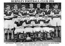 BURNLEY F.C. TEAM PRINT 1954 (McILROY / MATHER / GRAY )