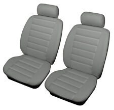 PEUGEOT 407 COUPE 06 on  GREY Front Leather Look SPORT Car Seat Covers Airbag Re