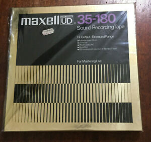"""Maxell UD 35-180 10.5"""" Metal Reel to Reel 1/4"""" Sound Recording Tape 3,600' NEW*"""