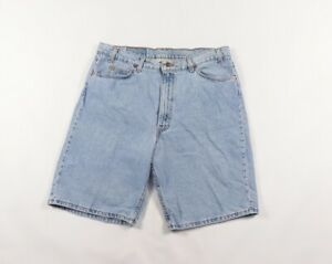 Vintage 90s Levis 550 Orange Tab Relaxed Fit Distressed Denim Shorts Mens 38 USA