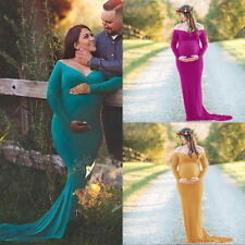 Maternity Dresses For Photography Pregnant Women Maxi Long Ball Gown Photo Prop