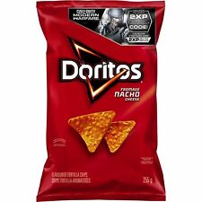 4 Bags Doritos Nacho Cheese TORTILLA CHIPS LARGE 255g FRITO LAY Canada FRESH