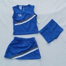 University of Kentucky UK Girl Cheer Suit Size 24M 3 Piece Gear