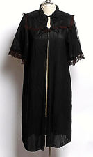 True vintage 40s 50s era Nan Flower black slip burgundy lace dress sheer