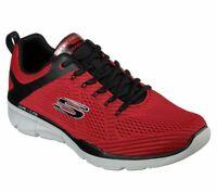 Red Mesh Skechers Shoe Men's Memory Foam Soft Train Sport Comfort Athletic 52927