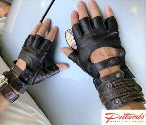 !BRAND NEW! Dents Black Fingerless Driving Leather Gloves! BRAND NEW!