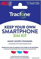 Tracfone Or Safelink Bring Your Own Phone Sim Kit Triple Cut Micro Nano Byop USA
