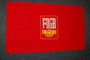 seltene kleine FDGB-Fahne, dicker Baumwollstoff, Größe 101x59cm