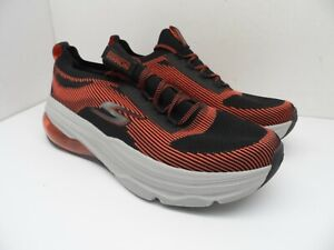 Skechers Max Men's Cushioning Lace-Up Athletic Casual Shoes Black/Red Size 12M
