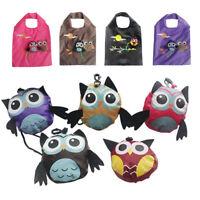 1pc Cute Shopping Bag Owl Folding Tote Bag Reusable Portable Handbag Travel UK