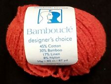 ELSEBETH LAVOLD Bambouclé DISCONTINUED Yarn Cotton Bamboo Linen Nylon 87yd ARAN