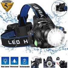 90000 лм водонепроницаемый голова лампа фонарик фара светодиодная Usb аккумуляторные фары рыбы