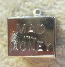 Vintage sterling silver mad money charm pendant,storage ?