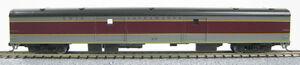 N Smooth Side Passenger Full Baggage Car Lackawanna  (Maroon & Grey) (1-40351)