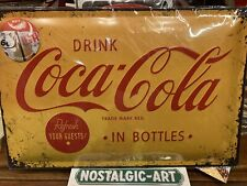 HUGE COCA-COLA. 60 X 40 Cm. Large Nostalgic-Art - Tin Sign Wall Plaque
