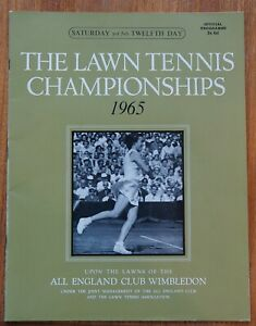 L.T.A. Championships Wimbledon 1965, Official programme 3rd July, Twelfth Day