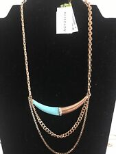 SILPADA Coastal Color Brass Turquoise & Crystal Necklace NWT!