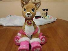 "Build A Bear Team Santa 18"" Reindeer Sparkle Fur PRANCER + Clothes & Shoes"