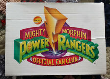 Vintage 1994 Mighty Morphin Power Rangers Official Fan Club kit box w/gloves!