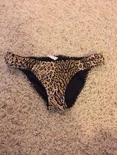 New: Victoria's Secret Swim Bikini Bottom Black Animal Print Small S Bathing