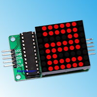 LED Matrix 8x8 MAX7219 Rot Modul für Arduino Raspberry DIY