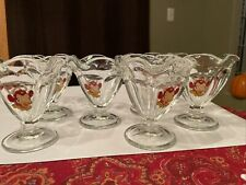 Borden Elsie Sundae Glasses Set Of 6 The Cow Glass Ice Cream 1973