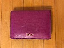 9e7f70bfdd LAUREN RALPH LAUREN Womens Wallet Magenta Pink/Purple Leather License Holder