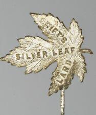 Lard Stickpin Advertising Antique Swift'S Silver Leaf