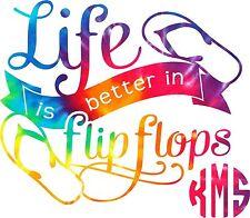 Monogram Sticker Life is better in Flip Flops ,leave me your initials in  order