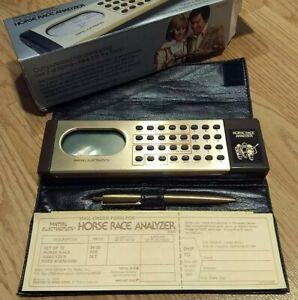 Vintage 1979 Mattel Electronics Horse Race Analyzer With Case & Instructions