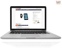 Verkaufsvorlage 2021 eBay Responsive Design Business dark bl. + Editor + Bonus