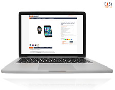Verkaufsvorlage 2020 eBay Responsive Design Business dark bl. + Editor + Bonus