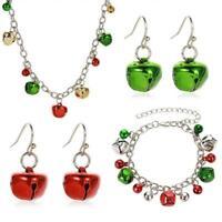 Weihnachten Bunte Glocke Anhänger Kette Halskette Ohrringe Armband Schmuck U9W6