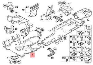 Genuine BMW E63 E63N E64 E64N Cabrio Engine Splash Shield OEM 51757203956
