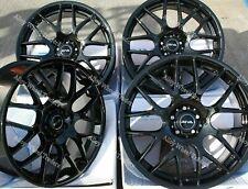 "19"" Black DTM Alloy Wheels Fits BMW 1 + 3 Series E36 E46 E90 E91 E92 Z3 Z4 WR"