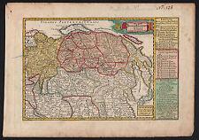 RUSSLAND Kaiserreich Landkarte 1749 Original!