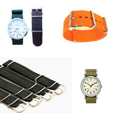 Mens Colorful Nylon Sport Wrist WatchBand Wristwatch Strap Military Army ~