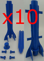 10  x Long tapered plastic candle mould. Easy candle extraction.