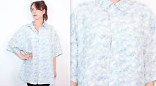 Grunge 100% Silk Vintage Casual Shirts & Tops for Men