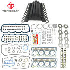 New 18mm CYLINDER HEAD STUD KIT&HEAD GASKET Fit For 03-07 Ford 6.0L V8 DIESEL