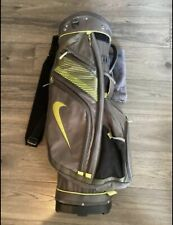 New listing Nike - 14 Way Divider Golf Bag - Club Cart Carrier - Gray Grey Silver Lime Green