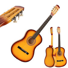"""New 38"""" Classical Acoustic School Student Band Guitar for Beginner Yellow"""