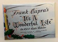 "IT'S A WONDERFUL LIFE Movie title Christmas 2"" x 3"" Fridge MAGNET Frank Capra"