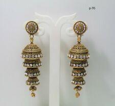 latest GOLD OXIDISED jhumka jhumkis party wear light weight earrings