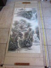 Chinese Scroll Painting Art Writing original signed by 雨村 YuCun
