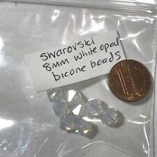 8mm Swarovski Crystal Beads White Opal Bead Clearance Item